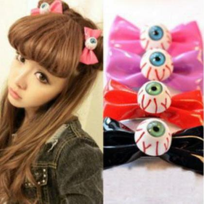 Kawaii Clothing Ropa 1PC Bow Eye Ha..