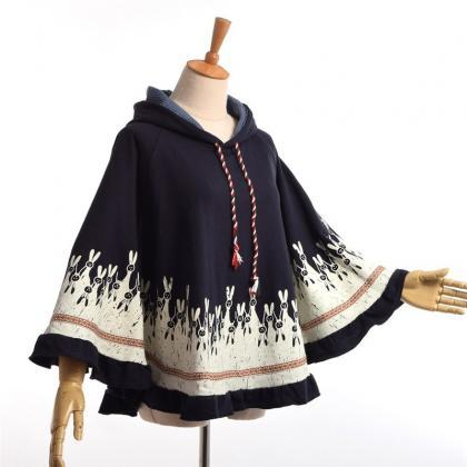 Kawaii Clothing Bunny Cape Rabbit C..