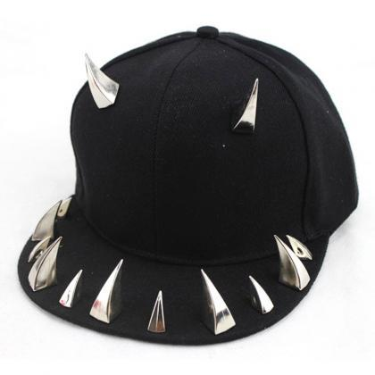 Kawaii Clothing Horns Cap Hat Spike..