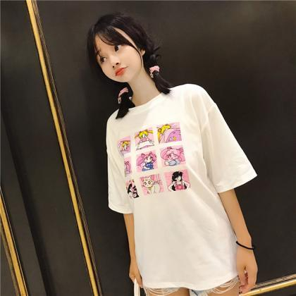 Kawaii Clothing Sailor Moon T-Shirt..