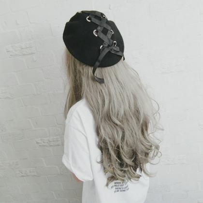 Kawaii Clothing Lolita Bow Beret Ha..