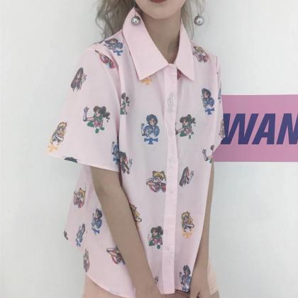 Kawaii Clothing Sailor Moon Blouse ..