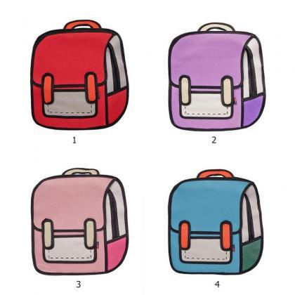 Kawaii Clothing Bag Backpack 3D Car..