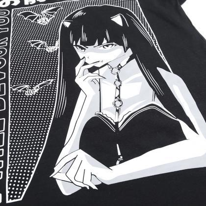 Kawaii Clothing Anime Yawn Girl T-S..