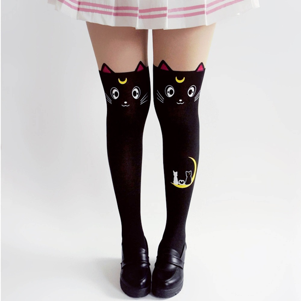 Kawaii Clothing Harajuku Ropa Tights Sailor Moon Medias Pantyhose Cat Gothic Lolita Ulzzang