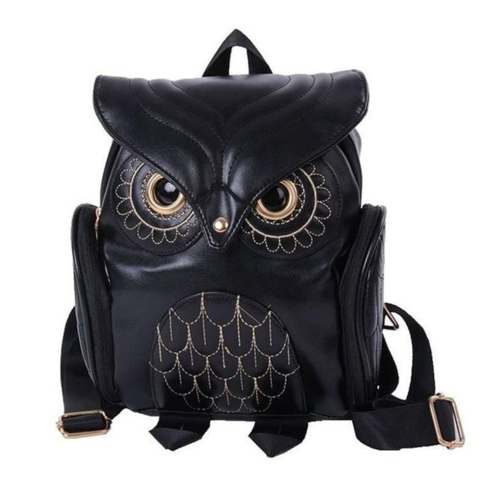 Kawaii Clothing Black Backpack Bag Punk Bird Cute Owl Backpack Japan Korea Ulzzang