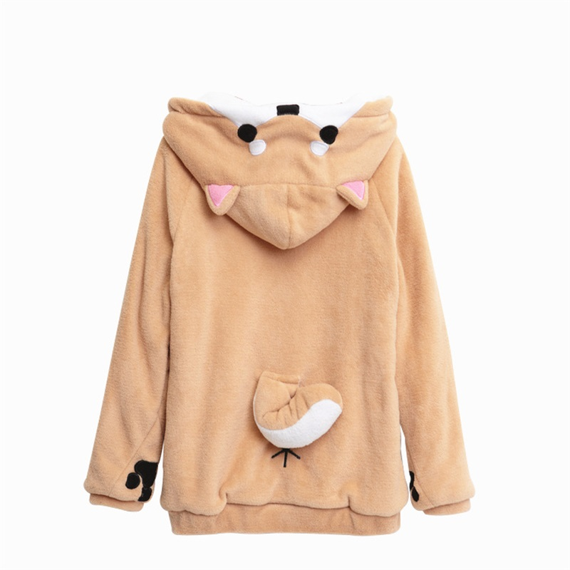 Kawaii Clothing Dog Animal Ears Wolf Cute Sweatshirt Doge Hoodie
