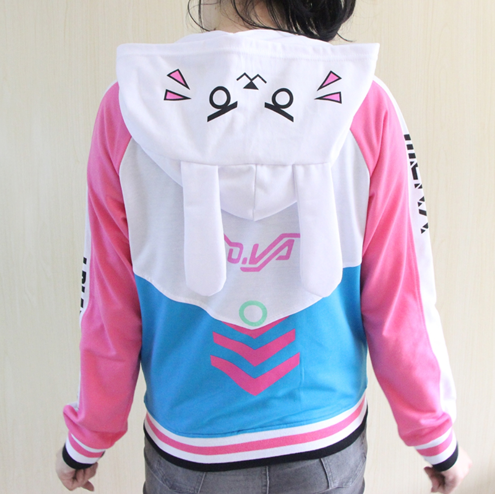 Kawaii Clothing D.Va Overwatch Jacket Hoodie Bunny Rabbit Ears