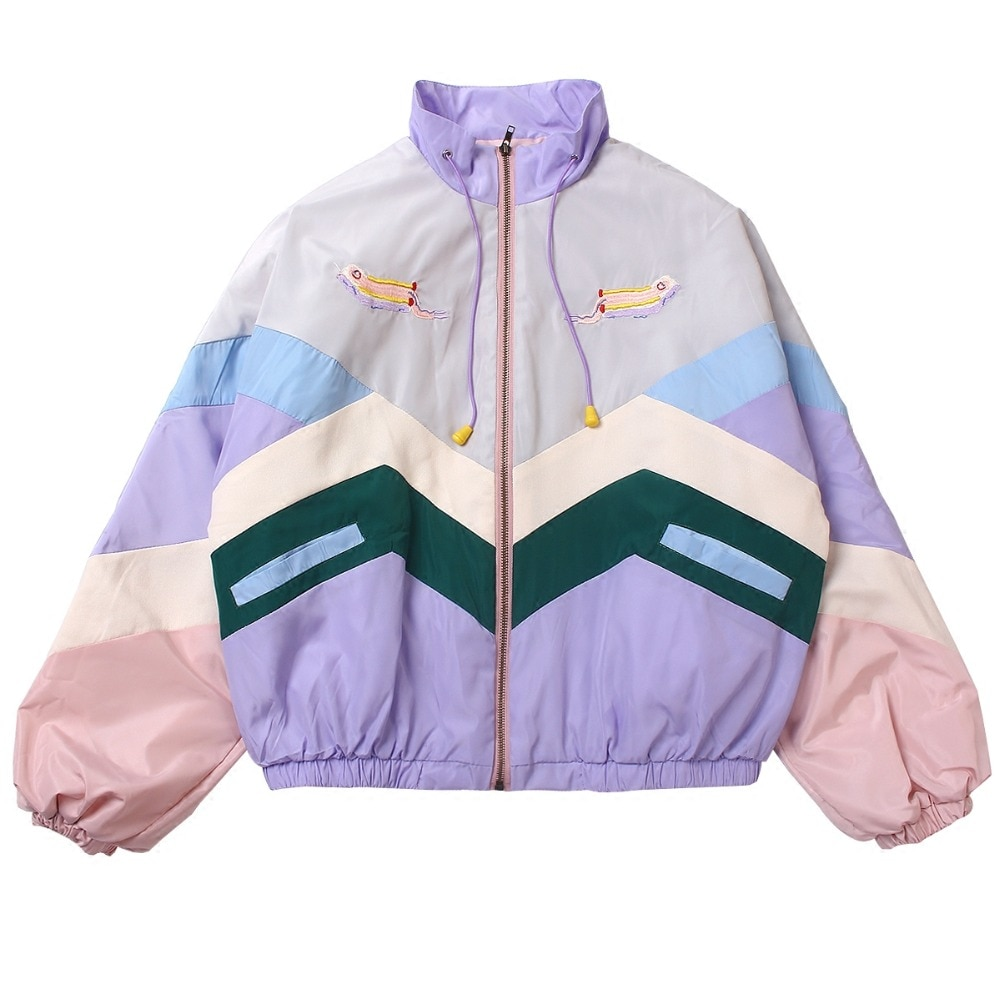 Kawaii Clothing Oversize Bomber Japan Pastel Windbreaker Jacket