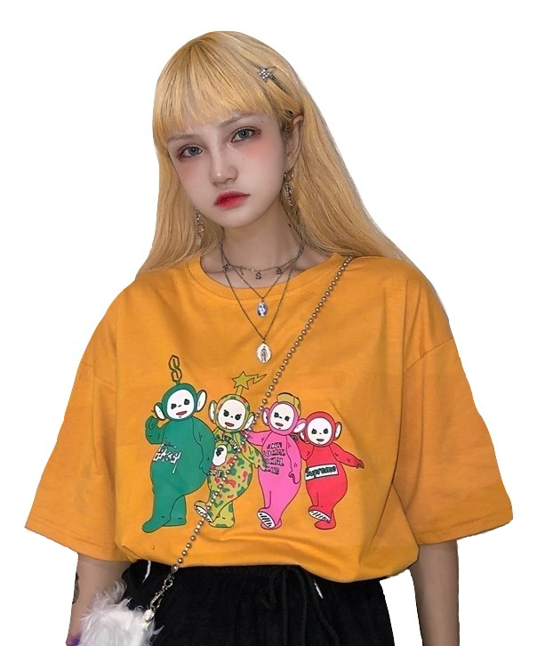 Kawaii Clothing Teletubbies T-Shirt Tinky Winky Dipsy Laa Laa Po