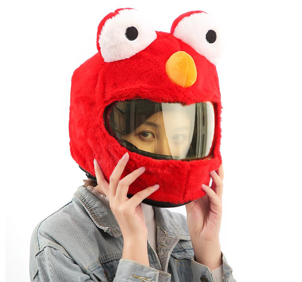 Kawaii Clothing Helmet Motorcycle Cover Funny Panda Plush Monster