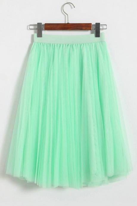 Kawaii Clothing Ropa Cute Skirt Long Princess Tulle Harajuku Japanese Korean WH036