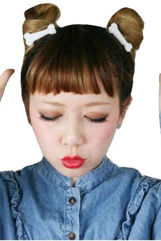 Kawaii Clothing 2PCs Bones Huesos Hair Clip Demon Punk Harajuku Korean Japanese WH277