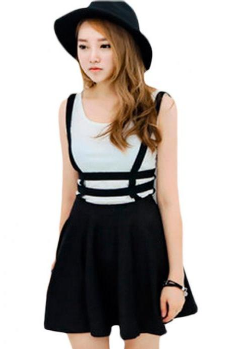 Kawaii Clothing Cute Ropa Korean Japanese Harajuku Skirt Falda Suspender Black Harness