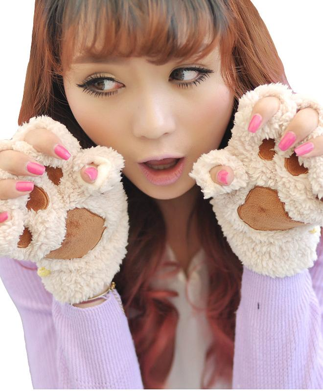Kawaii Clothing Cute Ropa Gloves Cat Guantes Neko Animal Harajuku Japan Korea Ulzzang