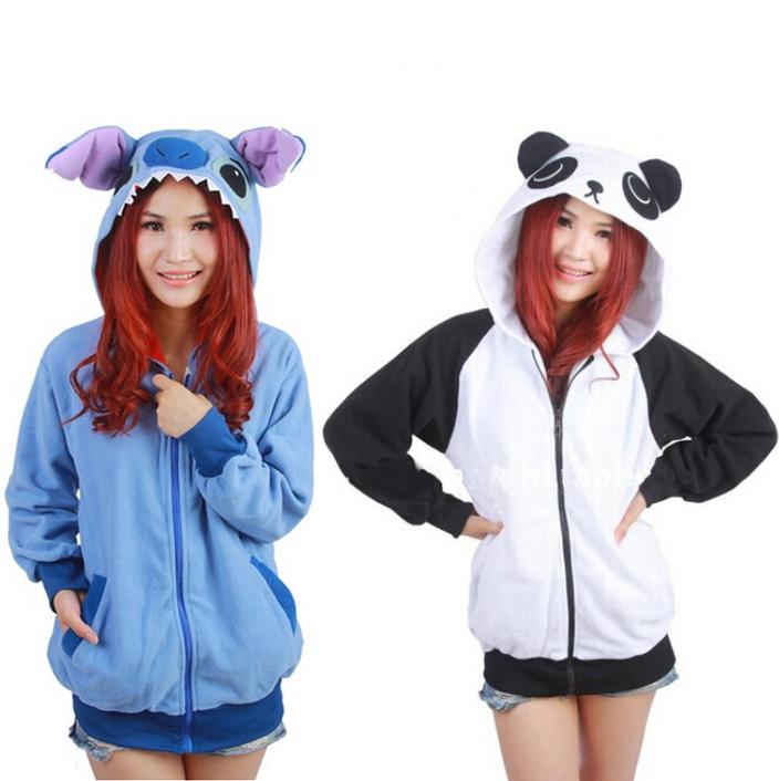 Kawaii Clothing Cute Jacket Hoodie Cartoon Rilakkuma Ears Videogames Animal
