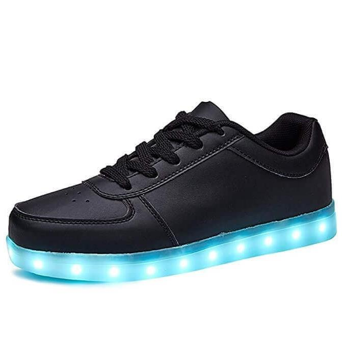 Kawaii Clothing Ropa Leds Trainers Shoes Lights Sneakers Black White Color Change