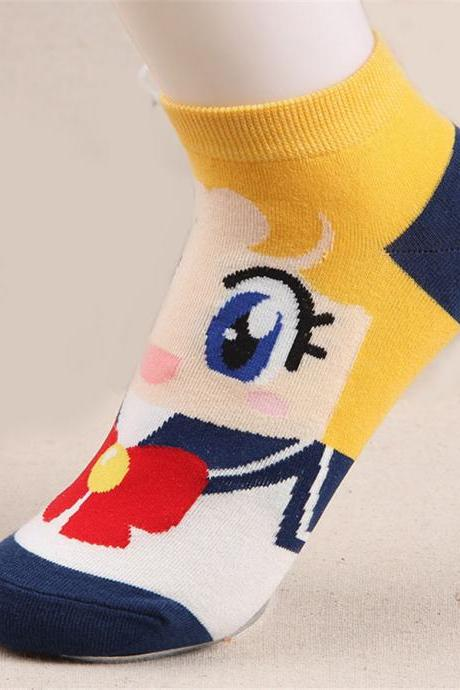 Kawaii Clothing Anime Manga Cartoon Cute Otaku Sailor Moon Socks