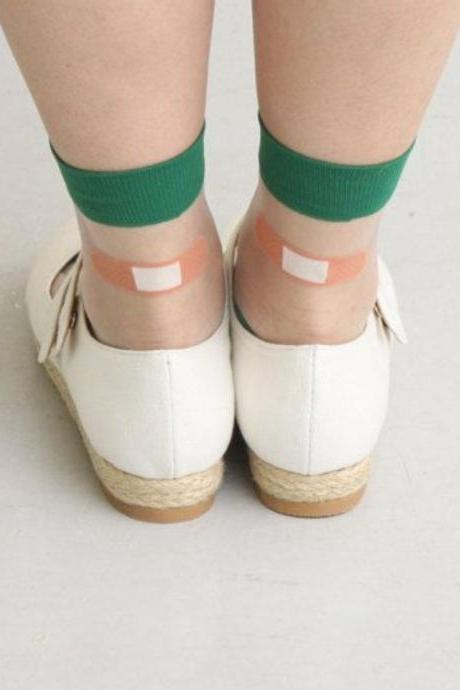 Kawaii Clothing Harajuku Transparent Japan Korea Band Aid Socks