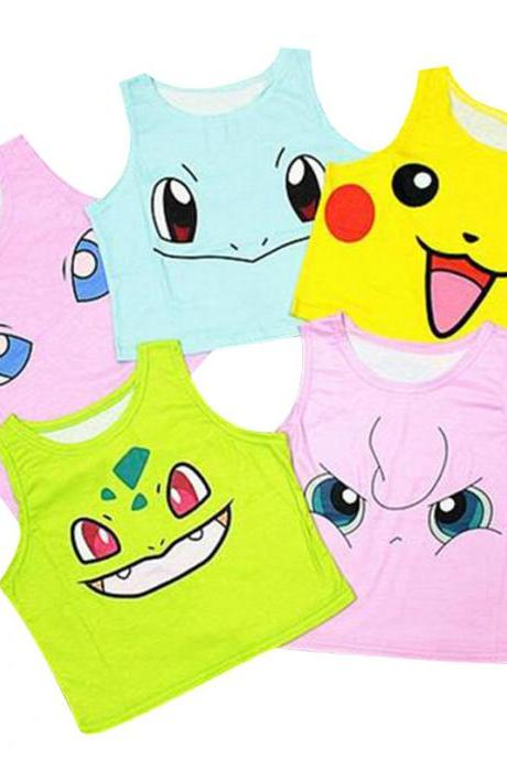 Kawaii Clothing Anime Japan T-Shirt Crop Top Cartoon Videogame Manga