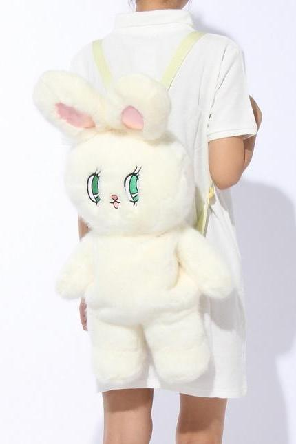 Kawaii Clothing Rabbit Bunny Backpack Bag Plush Animal Harajuku