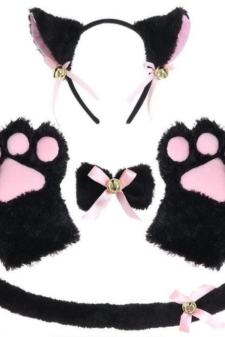 Kawaii Clothing Cat Set Ears Tail Gloves Paws Cosplay Costume