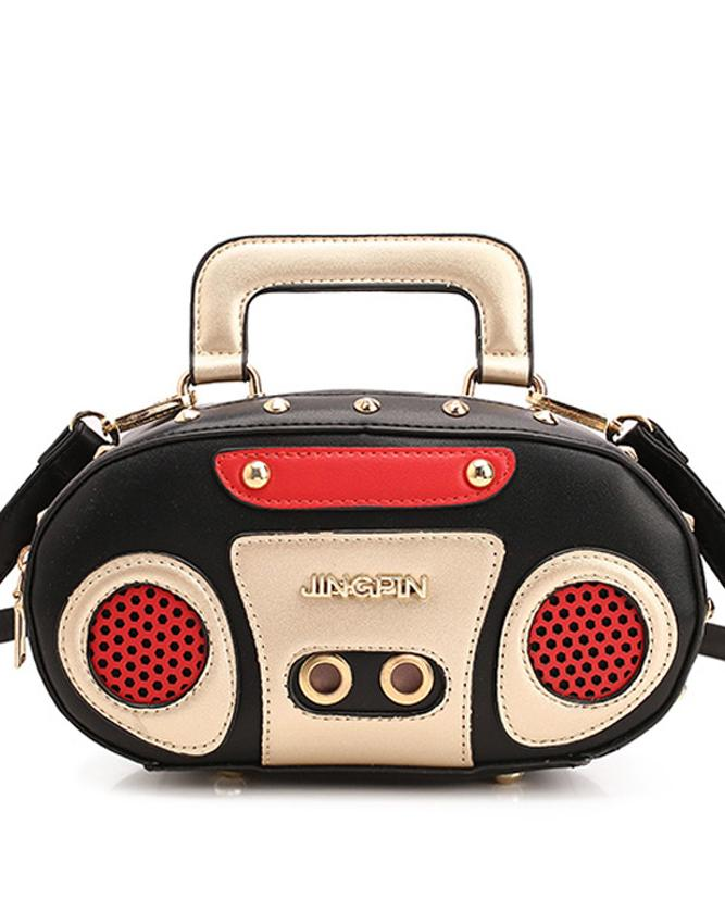 Kawaii Clothing Radio Bag Vintage Cassette Tape Music Retro Cool