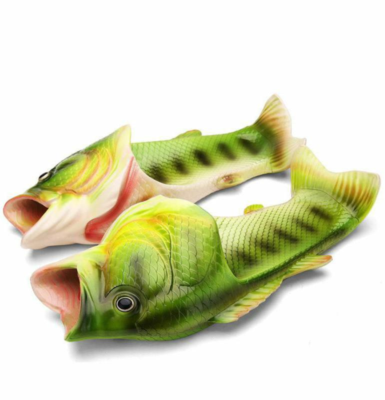 Kawaii Clothing Fish Sandals Flip Flops Shoes Animal Funny Green