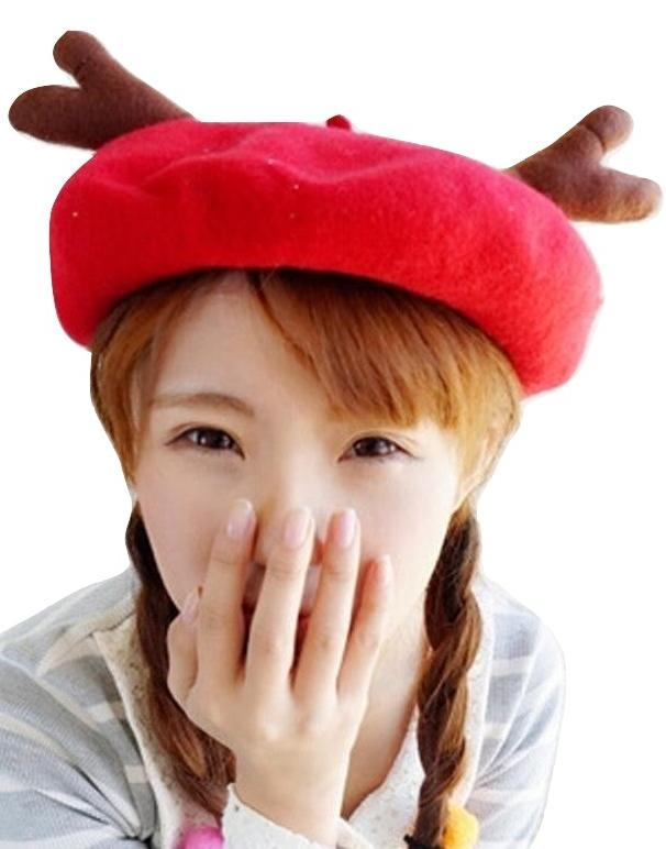 Kawaii Clothing Deer Antlers Hat Horns Animal Beret Beanie Korea