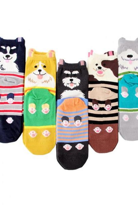 Kawaii Clothing Dog Cat Pug Panda Bear Tiger Corgi Animal Socks