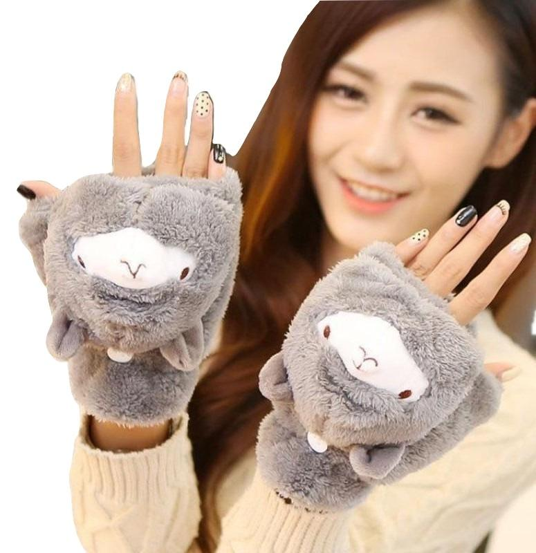 Kawaii Clothing Animal Pet Plush Cute Lolita Japan Alpaca Gloves