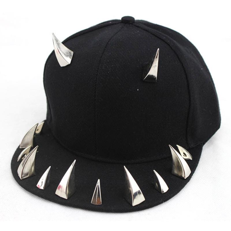 Kawaii Clothing Horns Cap Hat Spikes Black Demon Devil Punk Pink