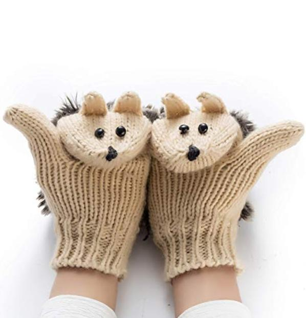 Kawaii Clothing Plush Animal Harajuku Pet Hedgehog Gloves Cute