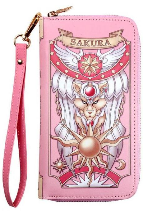 Kawaii Clothing Anime Card Captor Sakura Wallet Purse Pink Otaku