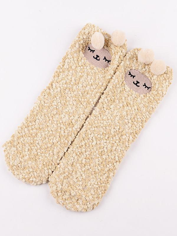 Kawaii Clothing Alpaca Socks Animal Sheep Ears Harajuku Japanese