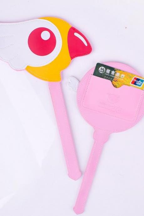 Kawaii Clothing Sakura Card Case Captor Wallet Holder Pass Wand