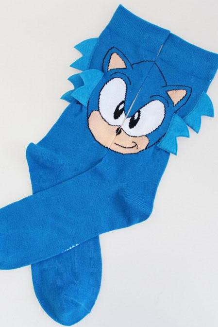 Kawaii Clothing Hedgehog Blue Cartoon Animal Japan Sonic Socks