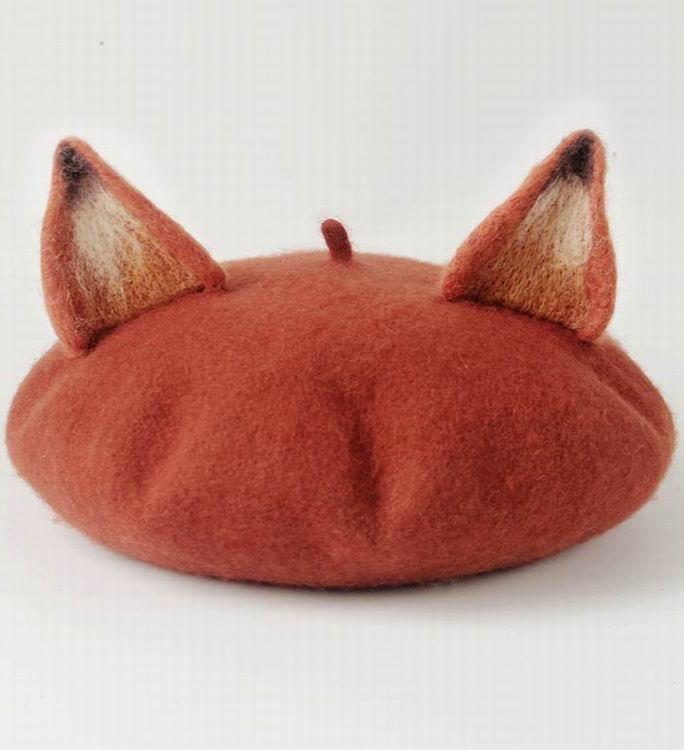 Kawaii Clothing Hat Beanie Cap Cat Ears Animal Pet Fox Beret Hat