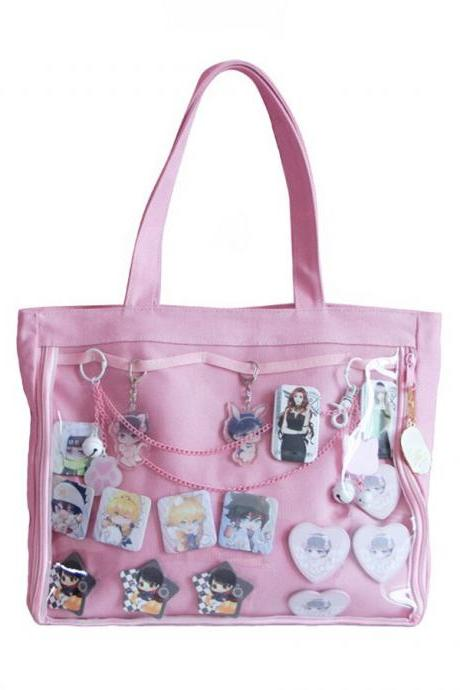 Kawaii Clothing Anime Japanese Kpop Jpop Transparent Window Bag