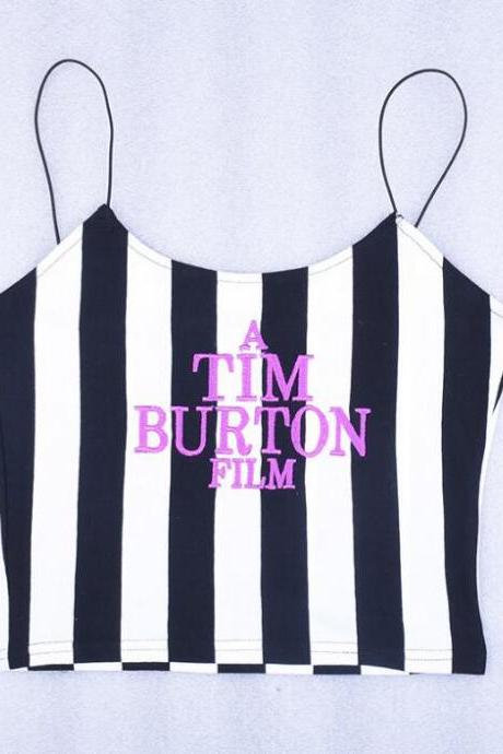 Kawaii Clothing Beetlejuice Tim Burton T-Shirt Tank Top Punk Emo