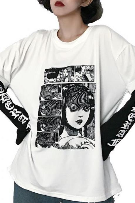Kawaii Clothing Horror Punk Comic Manga Creepy Emo T-Shirt Japan