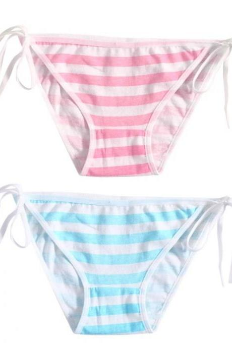 Kawaii Clothing Stripes Sexy Lolita Pink Blue Striped Panties