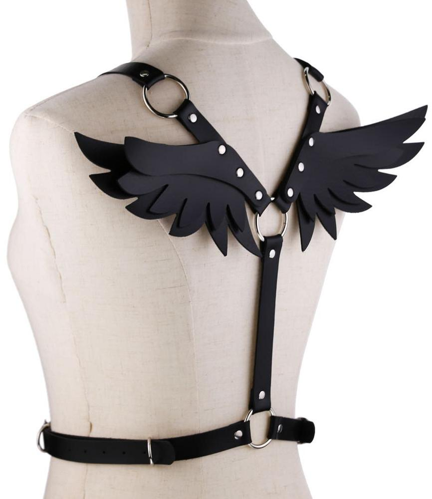 Kawaii Clothing Punk Angel Wings Harness Gothic Black Demon Belt