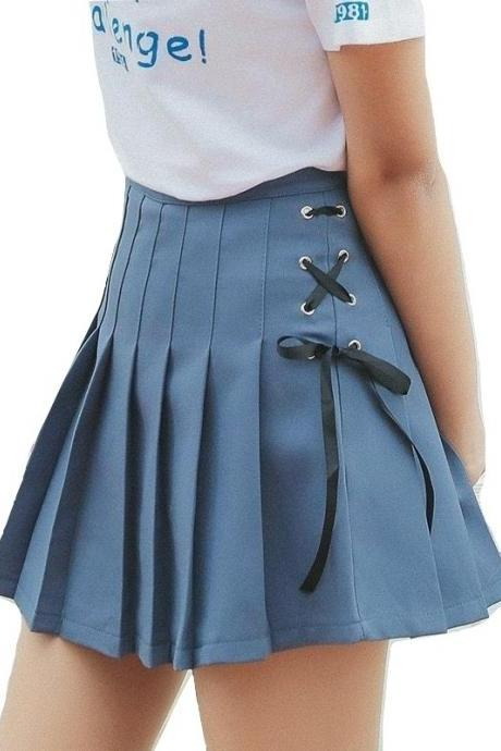 Kawaii Clothing Gothic Lolita Preppy Skirt Pastel Mini Cute