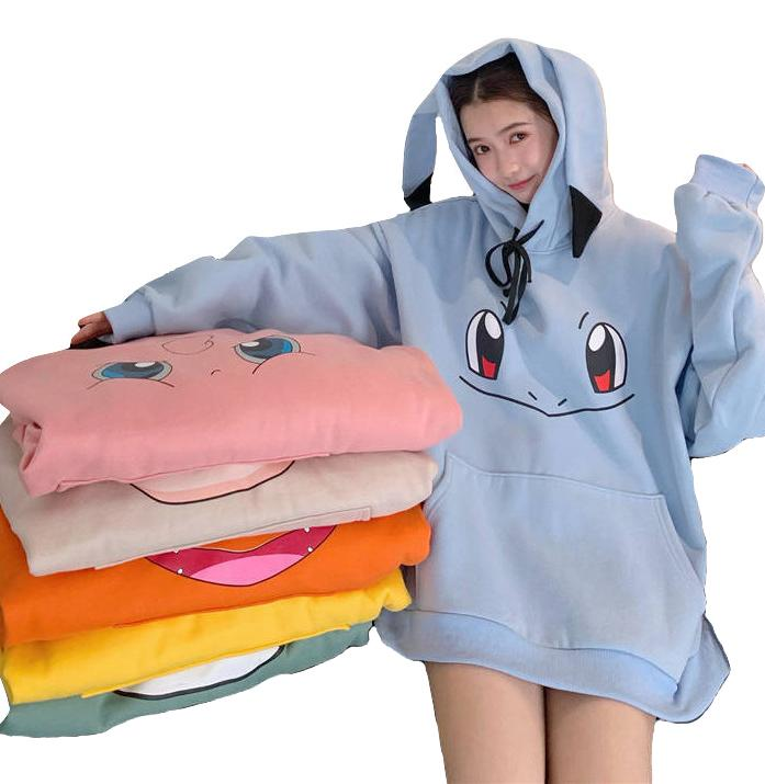 Kawaii Clothing Cartoon Hoodie Sweatshirt Videogame