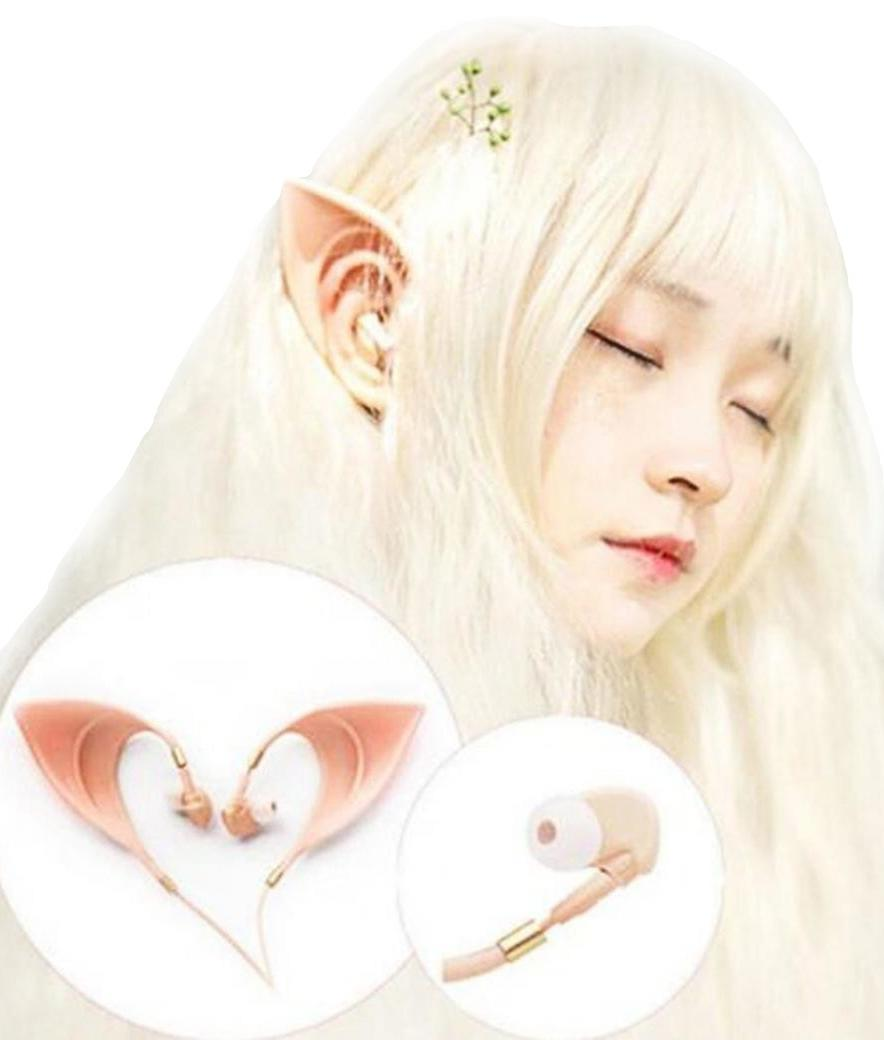 Kawaii Clothing Elf Ears Earbuds Earphones Headphones Fantasy