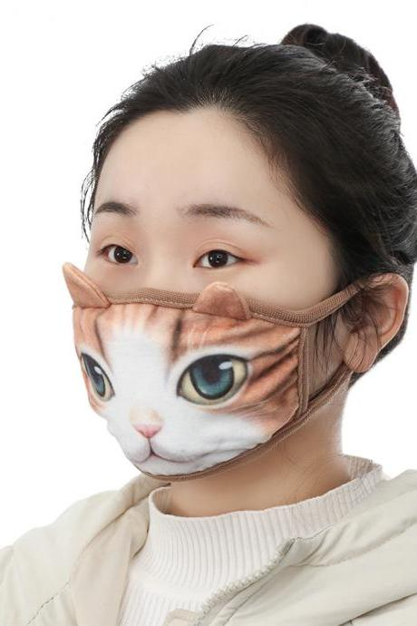 Kawaii Clothing Japanese Mouth Mask Funny Cat 3D Animal Cute Harajuku WH513