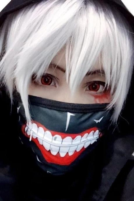 Kawaii Clothing Mask Facial Mouth Face Teeth Punk Black Zipper WH520
