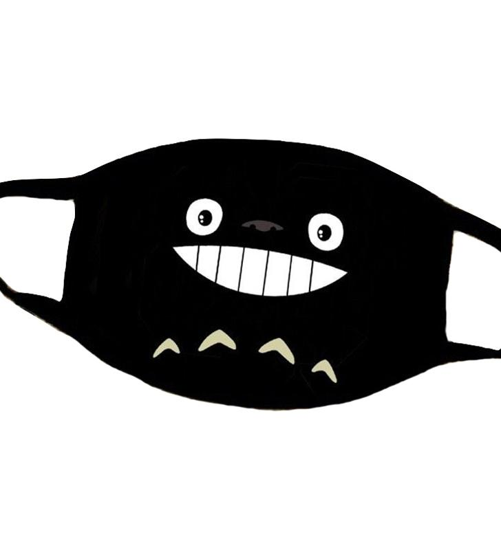 Kawaii CKawaii Clothing Mask Facial Mouth Face Totoro Anime Japan Black WH524