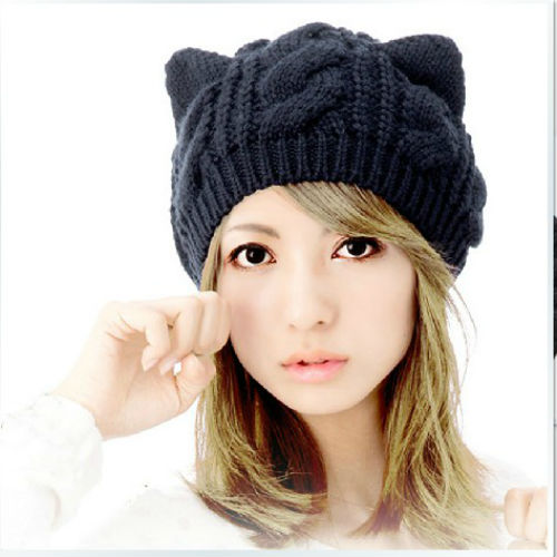 Kawaii Clothing Ropa Gorro Hat Beanie Cute Ears Cat Animal Harajuku Japan Korea WH089